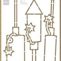 Craft Stencil Fireworks by Marleen