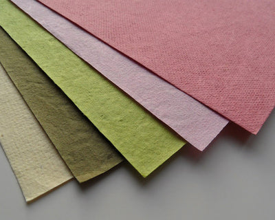 Mulberry paper coloured