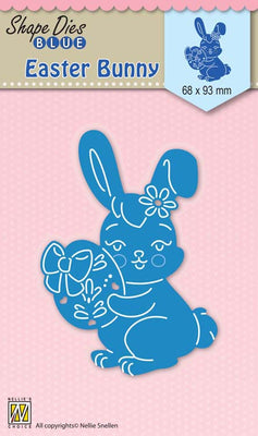 Nellie's Choice - Shape Die Blue Easter Bunny