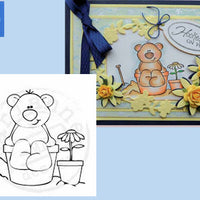 Stampfairy Cling Stamp - Beach Bear