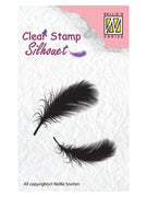 Nellie's Choice - Clear Stamp Silhouette Feathers