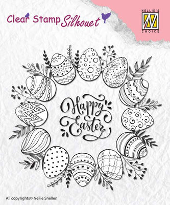 Nellie's Choice - Clear Stamp Silhouette Happy Easter