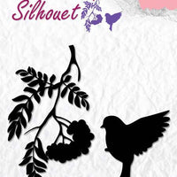 Nellie's Choice - Clear Stamp Silhouette Birdsong 3