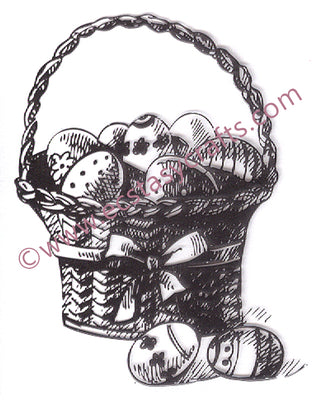 Nellie's Choice - Clear Stamp Spring - Easter Eggs Basket