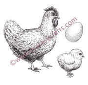 Nellie's Choice - Clear Stamp Spring - Hen, Chick and Egg