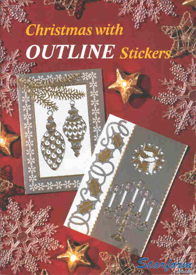 Christmas with outline Stickers..20 pages ISBN 8717116005837