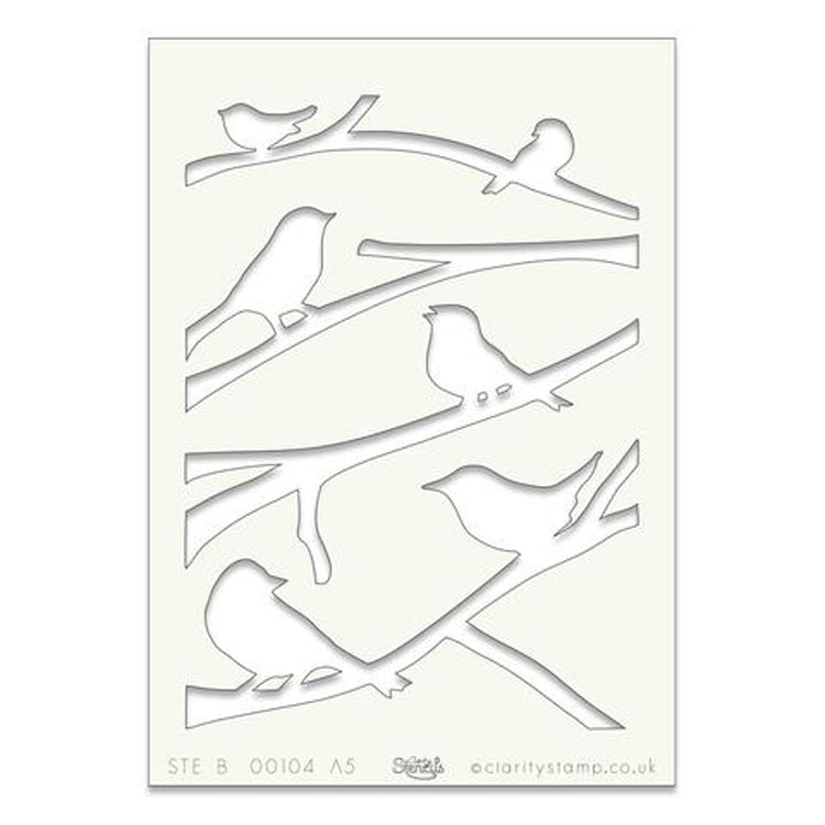 Clarity Stamp - Stencil - Birds on a Branch