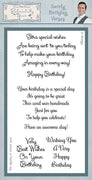 Creative Expressions - Clear Stamps - Swirly Birthday Verses