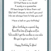 Creative Expressions - Clear Stamps - Fun Birthday Verses