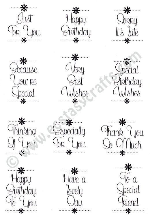 Creative Expressions - Clear Stamps - Dainty Daisies Everyday Sentiments