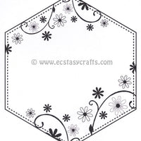 Creative Expressions - Clear Stamps - Dainty Daisies Large Stitched Hexagon Frame