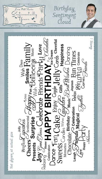Creative Expressions - Clear Stamps - Birthday Sentiment Cloud