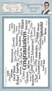 Creative Expressions - Clear Stamps - Congratulations Sentiment Cloud