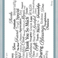 Creative Expressions - Clear Stamps - Thank You Sentiment Cloud
