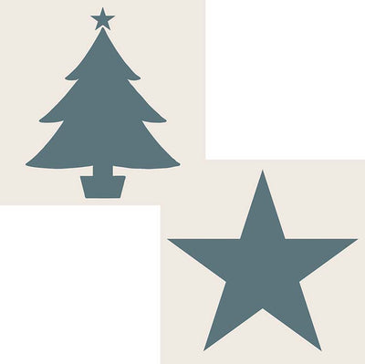 Sentimentally Yours 6 x 6 Aperture Stencils - Star & Christmas Tree