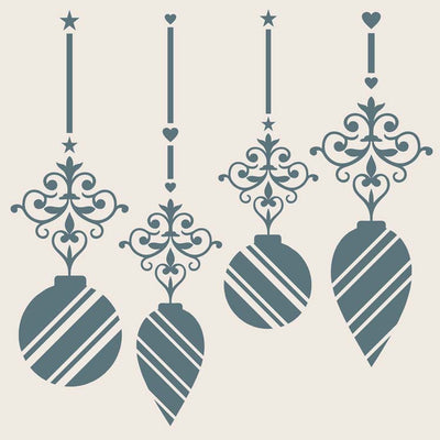 Sentimentally Yours 8 x 8 Stencil - Elegant Ornaments