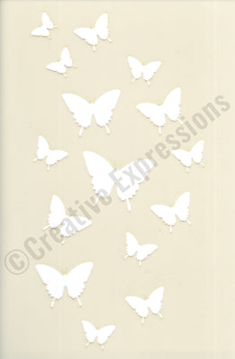 Creative Expressions Stencils Collection - Butterfly Cascade