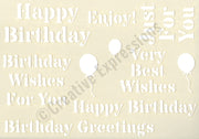 Creative Expressions Stencils Collection - Birthday