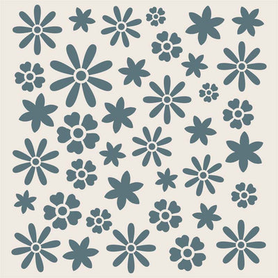 Sentimentally Yours 8 x 8 Stencils - Summer Meadow