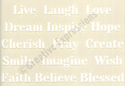 Creative Expressions Stencils Collection - Inspirational