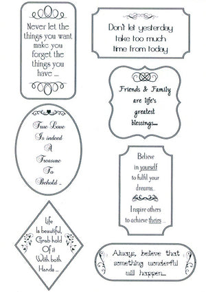 Creative Expressions - Clear Stamps - Words of inspiration
