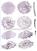 Marianne Design: Clear Stamp Set - Tiny's Gerbera (layering)