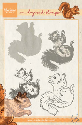 Marianne Design Stamps Tiny's Squirrel (Layering)