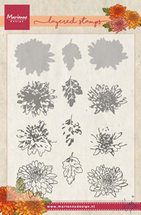 Marianne Design Stamps Tiny's Chrysanthemum (Layering)
