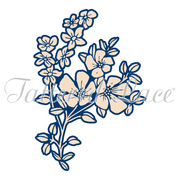 Tattered Lace Die - Whitework Ditsy Flower