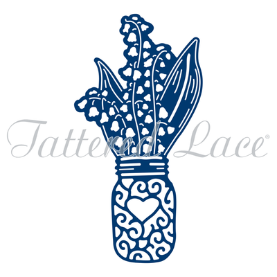 Tattered Lace Die - Lily of the Valley Jar