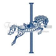 Tattered Lace Die - Spinning Charm Carnival Horse