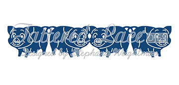 Tattered Lace Die - Pig Border