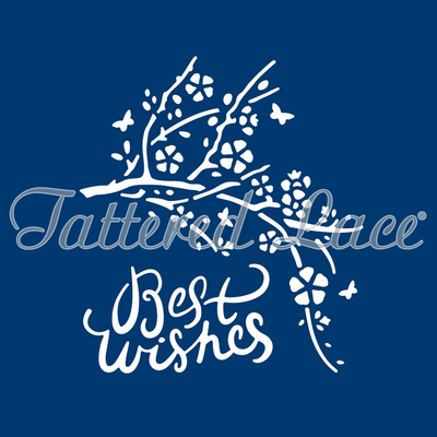Tattered Lace Die - Best Wishes