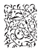 Embossing Folder Feathered Flourish - Allura Collection