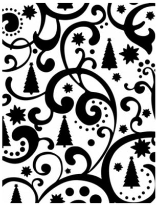 Embossing Folder - Christmas Tree Flourish 4 x 6
