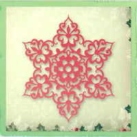 Cutting and Embossing Dies - Snow Crystal  - Silent Night Collection - Ultimate Crafts
