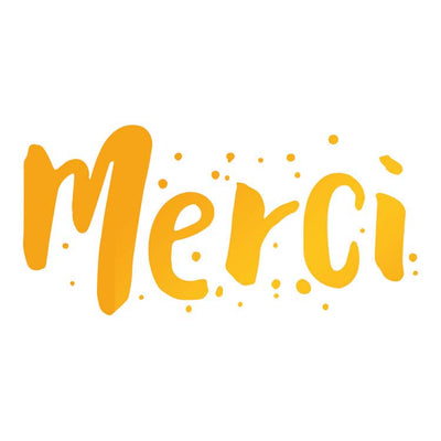 Ultimate Crafts Hotfoil Stamp - Merci
