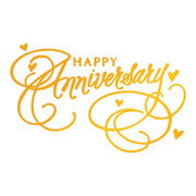 Ultimate Crafts - Happy Anniversary Hotfoil Stamp
