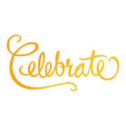 Ultimate Crafts Hotfoil Stamp - Celebrate