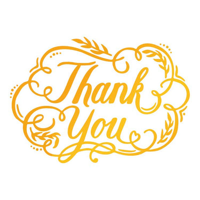 Ultimate Crafts Hotfoil Stamp - Thank You