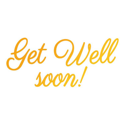 Ultimate Crafts Hotfoil Stamp - Get Well Soon