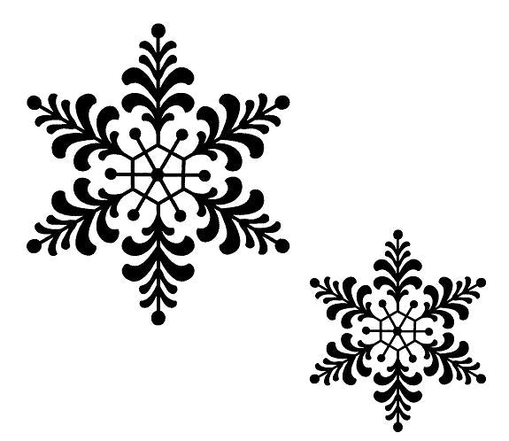 Sue Wilson - Stamps - Feathery Snowflake