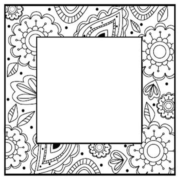 Sue Wilson - Stamps - Zentangles Flower Square