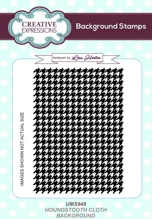 Sue Wilson - Stamps - Houndstooth Cloth A6 Background