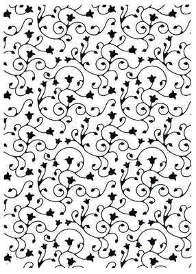 Vintasia Embossing Folder - Swirl pattern