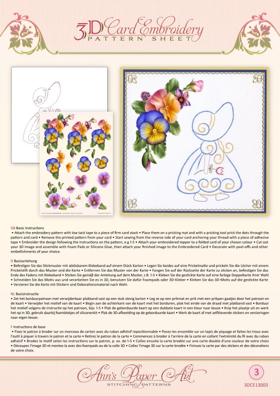 3D Card Embroidery Pack 2