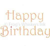 Frog's Whiskers Stamps - Happy Birthday
