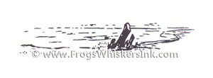 Frog's Whiskers Stamps - Shoreline