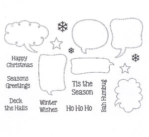 Creative Expressions - Clear Stamps - Festive Speech Bubbles