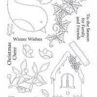 Creative Expressions - Clear Stamps - Christmas Robins